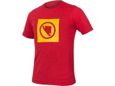 Endura One Clan Carbon Icon T, red - T-Shirt