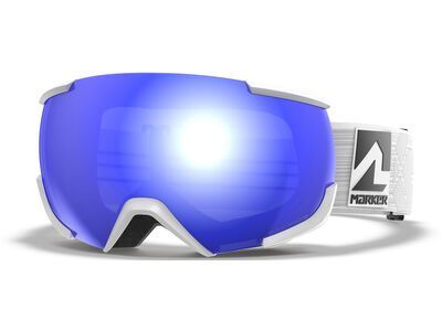 Marker 16:10+ Polarized inkl. WS, white/Lens: blue hd mirror - Skibrille