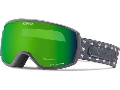 Giro Facet, titan cross stitch/Lens: loden green - Skibrille