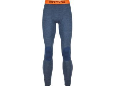 Ortovox 185 Merino Rock'n'Wool Long Pants M, night blue blend - Unterhose