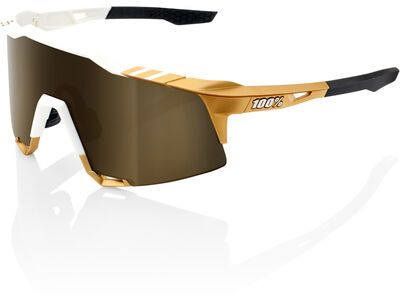 100% Speedcraft Tall Peter Sagan LTD inkl. WS, weiß/gold/Lens: gold mirror - Sportbrille