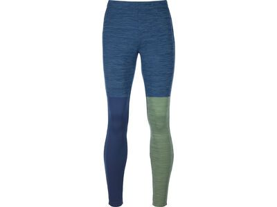 Ortovox Merino Fleece Light Long Pants M, night blue blend - Unterhose