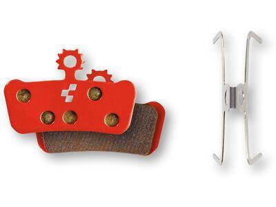 Cube Scheibenbremsbelag Avid Elixir Trail X0/X9/X7, SRAM Guide R - gesintert, red