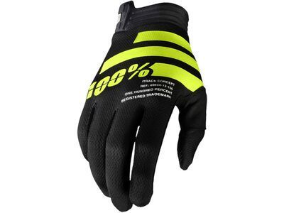 100% iTrack Glove black/yellow