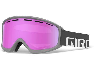 Giro Index, titaniumatte wordmark/Lens: vivid pink - Skibrille