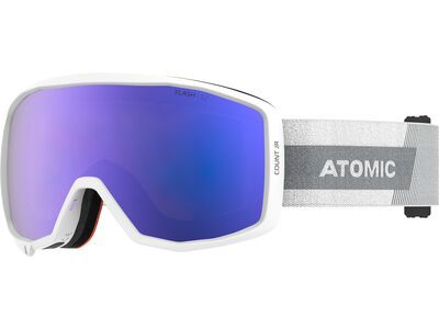 Atomic Count JR Spherical, white/Lens: blue flash - Skibrille