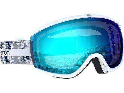Salomon iVY, white/Lens: ml mid blue - Skibrille