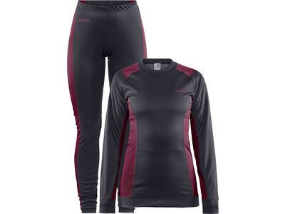 Craft Core Dry Baselayer Set W, asphalt/peak - Unterwäsche-Set