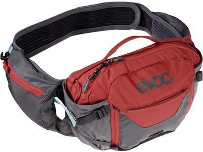 Evoc Hip Pack Pro 3l + Hydration Bladder 1,5l, carbon grey/chili red - Hüfttasche