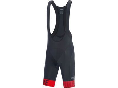 Gore Wear C5 Opti kurze Trägerhose+ black/red