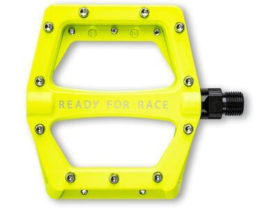 Cube RFR Pedale Flat CMPT, neon yellow