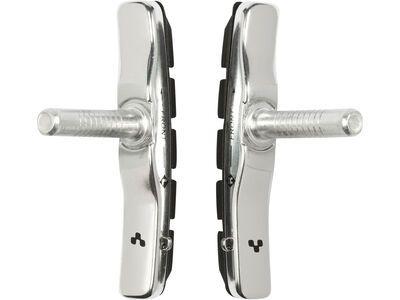 Cube Zweiteiliger Bremsschuh für Cantilever-Bremsen, silver´n´black - Bremsbelag