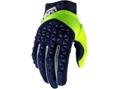 100% Airmatic Glove navy/yellow