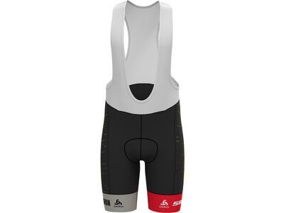 Scott SRAM Racing Team Replica Bibshorts, black/sulphur yellow - Radhose