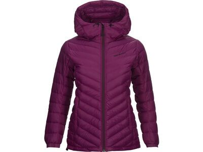 Peak Performance W Frost Down Hood, blood cherry - Daunenjacke