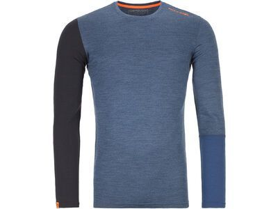 Ortovox 185 Merino Rock'n'Wool Long Sleeve M, night blue blend - Unterhemd