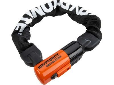 Kryptonite Evolution Series 4 1055 Mini Integrated Chain - 55 cm, orange/schwarz - Fahrradschloss