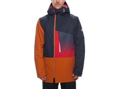 686 Men's Icon Insulated Jacket, navy colorblock - Snowboardjacke