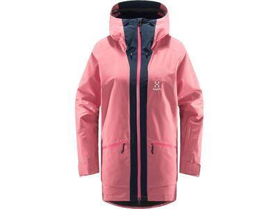 Haglöfs Lumi Insulated Parka Women, tulip pink/tarn blue - Skijacke