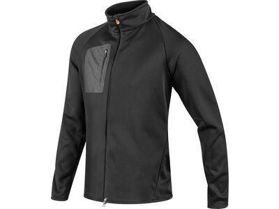 Komperdell Full Zip Sweater Men, schwarz/orange - Protektorenjacke