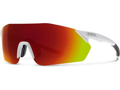 Smith Reverb inkl. WS, mat white/Lens: cp red mir - Sportbrille