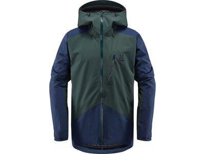 Haglöfs Niva Jacket Men, mineral/tarn blue - Skijacke