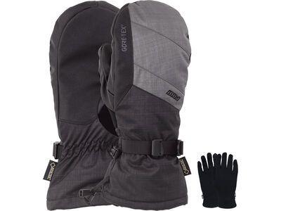 POW Gloves Warner Gore-Tex Long Mitt + Merino Liner, charcoal - Snowboardhandschuhe