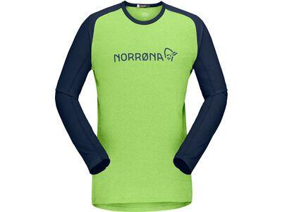 Norrona fjørå equaliser lightweight Long sleeve M's foliage/indigo night