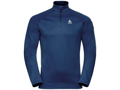 Odlo Men's Pillon 1/2 Zip Midlayer, estate blue - Fleecepullover