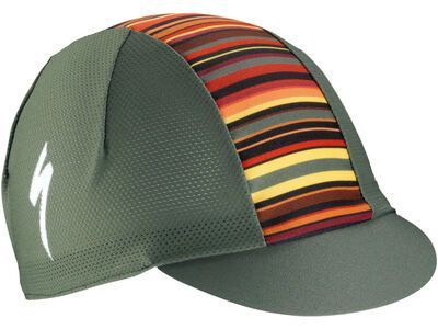 Specialized Cycling Cap Light Printed Stripes, military green - Radmütze