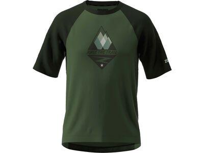 Zimtstern PureFlowz Shirt SS, green/night/fog green - Radtrikot