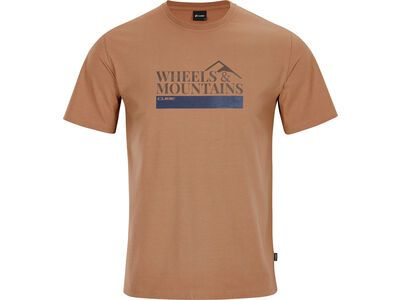 Cube Organic T-Shirt Wheels & Mountains brown