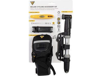 Topeak Deluxe Cycling Accessory Kit + Mini-Pumpe / Mini-Tool / Reifenheber