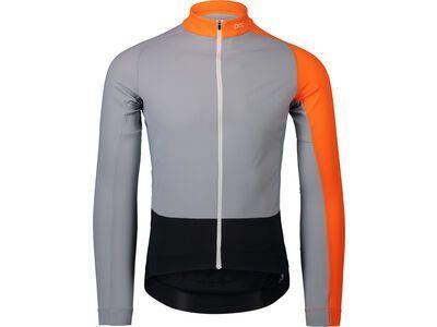 POC Essential Road Mid LS Jersey granite grey/zink orange