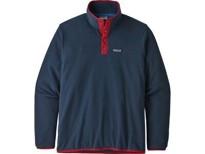 Patagonia Men's Micro D Snap-T Fleece Pullover new navy w/classic red