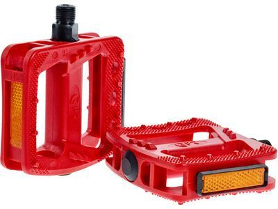 Cube RFR Pedale Flat HQP CMPT, red