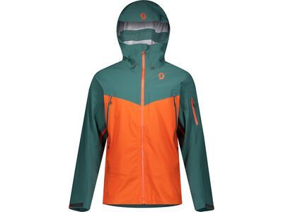 Scott Explorair DRX 3L Men's Jacket, jasper green/orange pumpkin - Skijacke