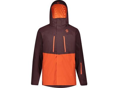 Scott Ultimate DRX Men's Jacket red fudge/orange pumpkin