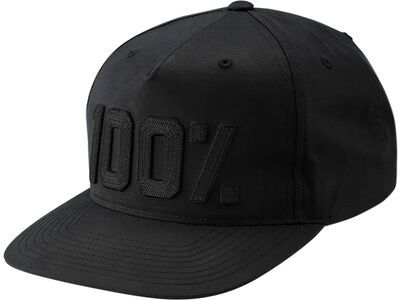 100% Frontier Snapback Hat, black - Cap