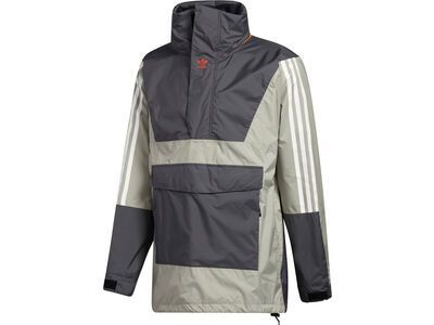 Adidas Anorak 10K Jacket grey six/feather grey/orange