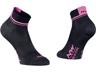 Northwave Logo 2 Wmn Socks, black/pink fluo - Radsocken