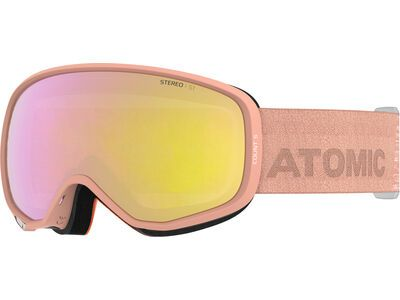 Atomic Count S Stereo, peach sunshine/Lens: pink/yellow - Skibrille