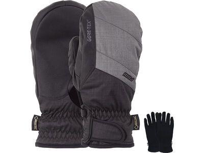POW Gloves Warner Gore-Tex Short Mitt + Merino Liner, charcoal - Snowboardhandschuhe