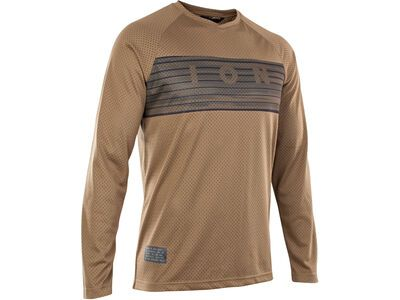 ION Tee LS Scrub 2.0, mud brown - Radtrikot
