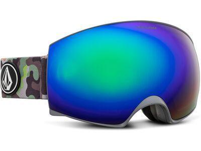 Volcom Magna, camo lime/Lens: green chrome - Skibrille