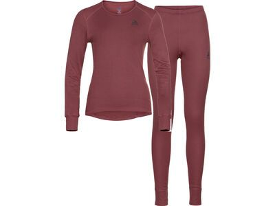 Odlo Women's Active Warm Eco Baselayer Set, roan rouge