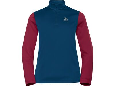 Odlo Midlayer 1/2 Zip Planches, poseidon/rumba red - Fleecepullover