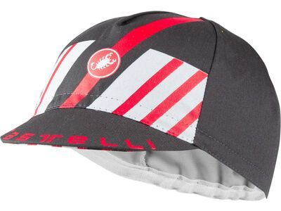 Castelli Hors Categorie Cap dark gray/silver gray/red