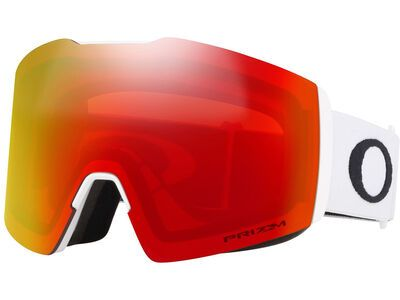 Oakley Fall Line XL Prizm, matte white/Lens: torch iridium - Skibrille
