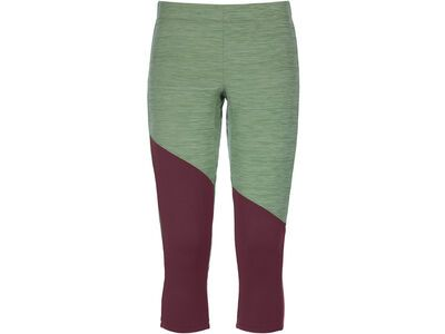 Ortovox Merino Fleece Light Short Pants W, green forest blend - Unterhose
